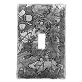 Wendell August Autumn Single Switch Plate Cover, Aluminum