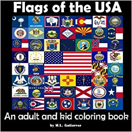 Amazon.com: Flags of the USA: An adult and kid coloring book ...