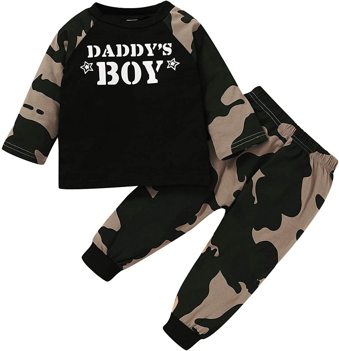 Toddler Baby Boy Clothes Summer Fall Outfits Cotton Camouflage Shirt...