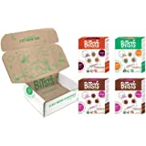 Bitsy's Organic Cookies | Tree Nut and Peanut Free | Vitamin and Mineral Filled Snacks for Kids - 4 Pack Variety