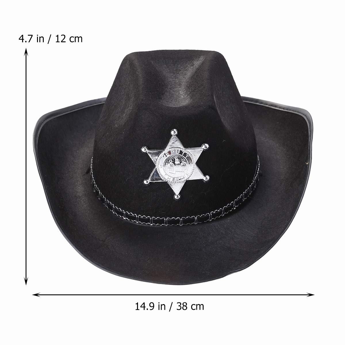 Amosfun - Gorra de policía clásica con borde grande para la ...
