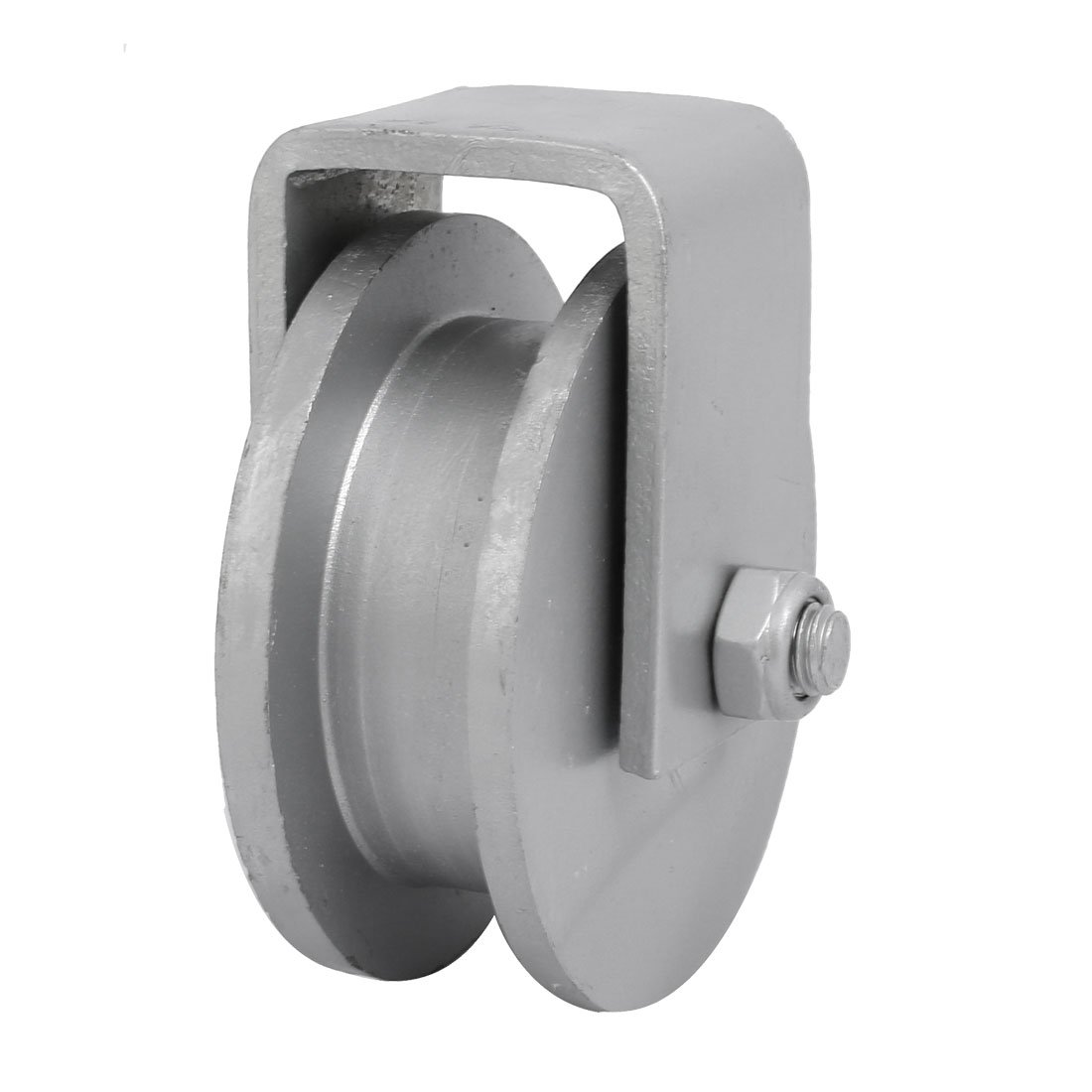 uxcell 100mm Dia Wheel 304 Stainless Steel H-Shaped Rail Track Bearing Fixed Pulley