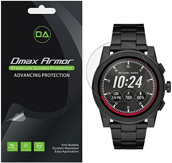 [6-Pack] Dmax Armor for Michael Kors Access Grayson Smartwatch (Gen 2) Anti-Glare & Anti-Fingerprint (Matte) Screen Protector - Lifetime Replacement