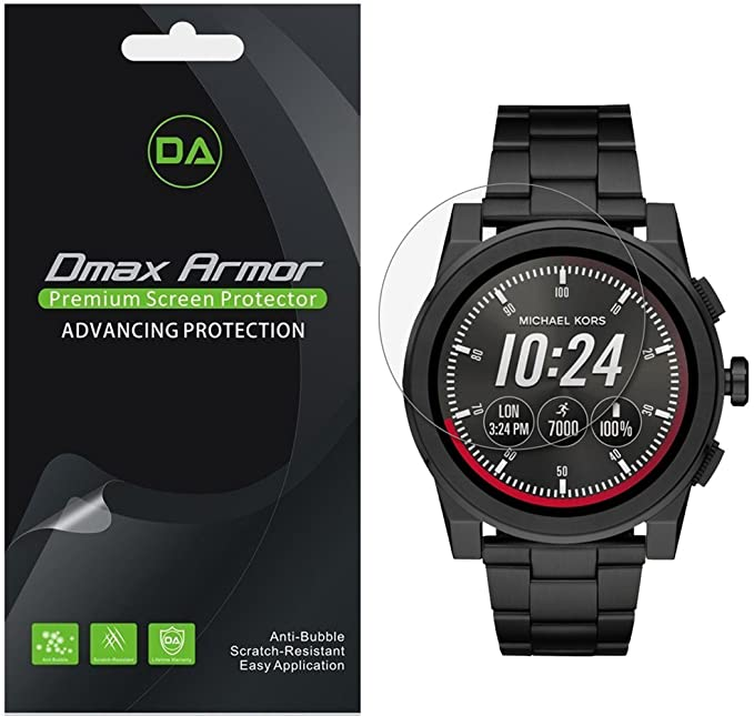 [6-Pack] Dmax Armor for Michael Kors Access Grayson Smartwatch (Gen 2) Anti-Glare & Anti-Fingerprint (Matte) Screen Protector - Lifetime Replacement