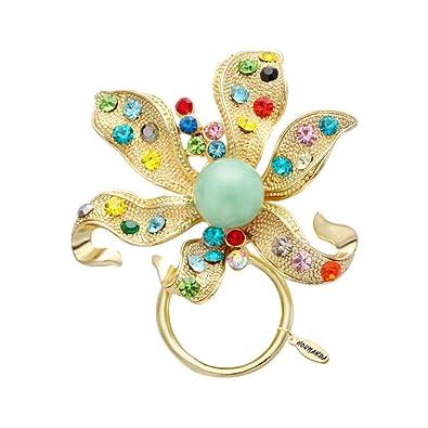 noumanda Colorful Fleur de cristal Broche Cintre Support magnétique Lunettes, Lunettes de soleil, magnétique,