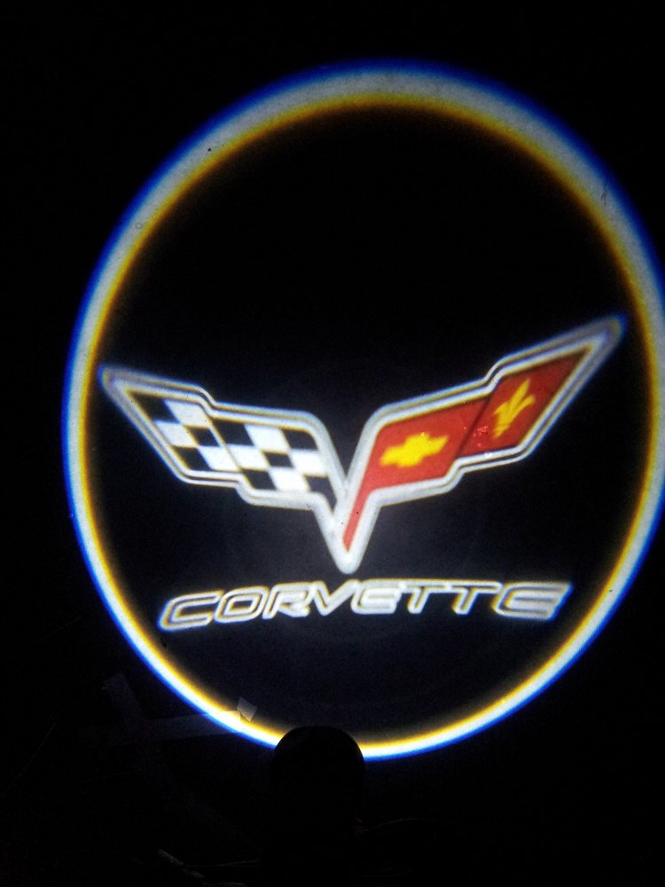 Corvette C6 LED proyector luces - Cruz banderas y letras: Amazon ...