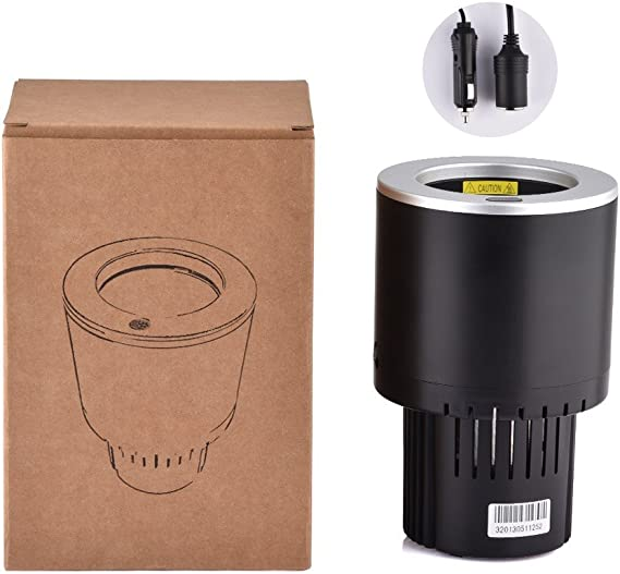 AUSHEN Car Cup Cooler Semiconductor Mini Frigor/ífico Soporte para bebidas Enfriamiento Calefacci/ón Latas de bebidas Caf/é en minutos 12V Soporte el/éctrico para bebidas en taza