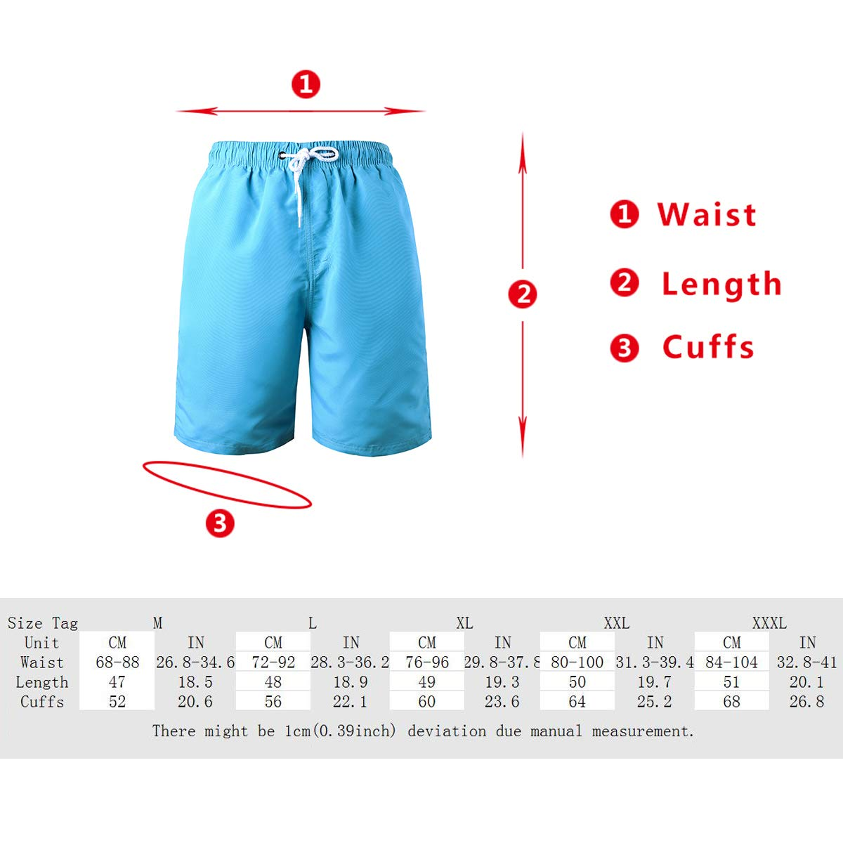 LEIDAI Kurze Hose aus Mikrofaser für Herren mit Netzfutter, Lässige, Klassisch Geschnittene, Kurze Hose mit Kordelzug am Strand …
