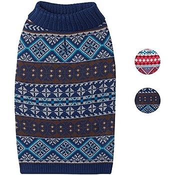 Amazon.com : Blueberry Pet 3 Patterns Vintage Tinsel Knit Fair ...