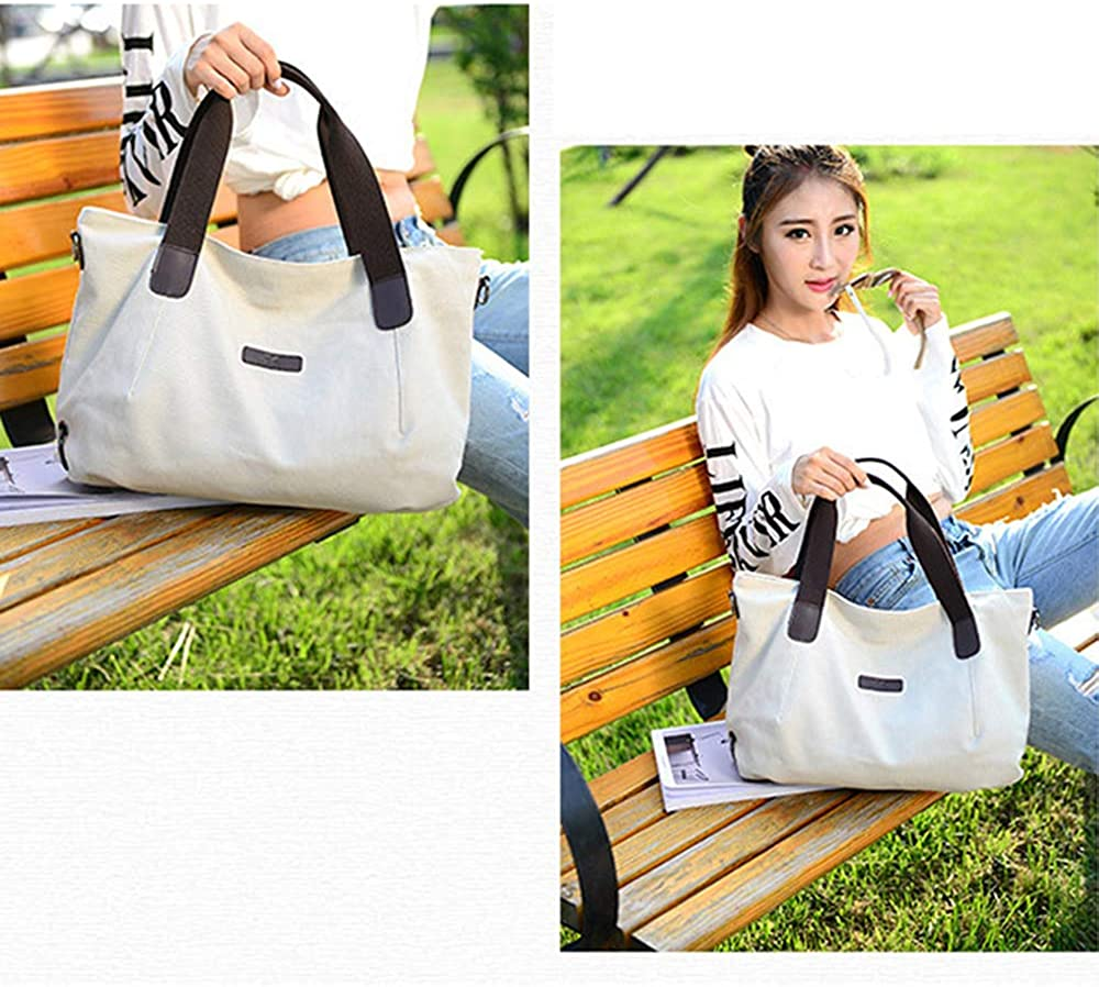 Womens Shoulder Bag Simple Casual Large Capacity Light Travel Work Daily Messenger Bag