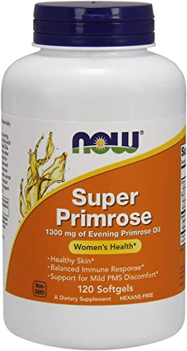 NOW Supplements, Super Primrose 1300 mg with Naturally Occurring GLA Gamma-Linolenic Acid , 120 Softgels