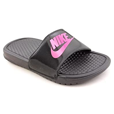 d7a3848b084bd Nike Benassi Jdi (GS PS) Youth Girls Black Slides Sandals Shoes 2.5 UK UK  2.5  Amazon.co.uk  Shoes   Bags