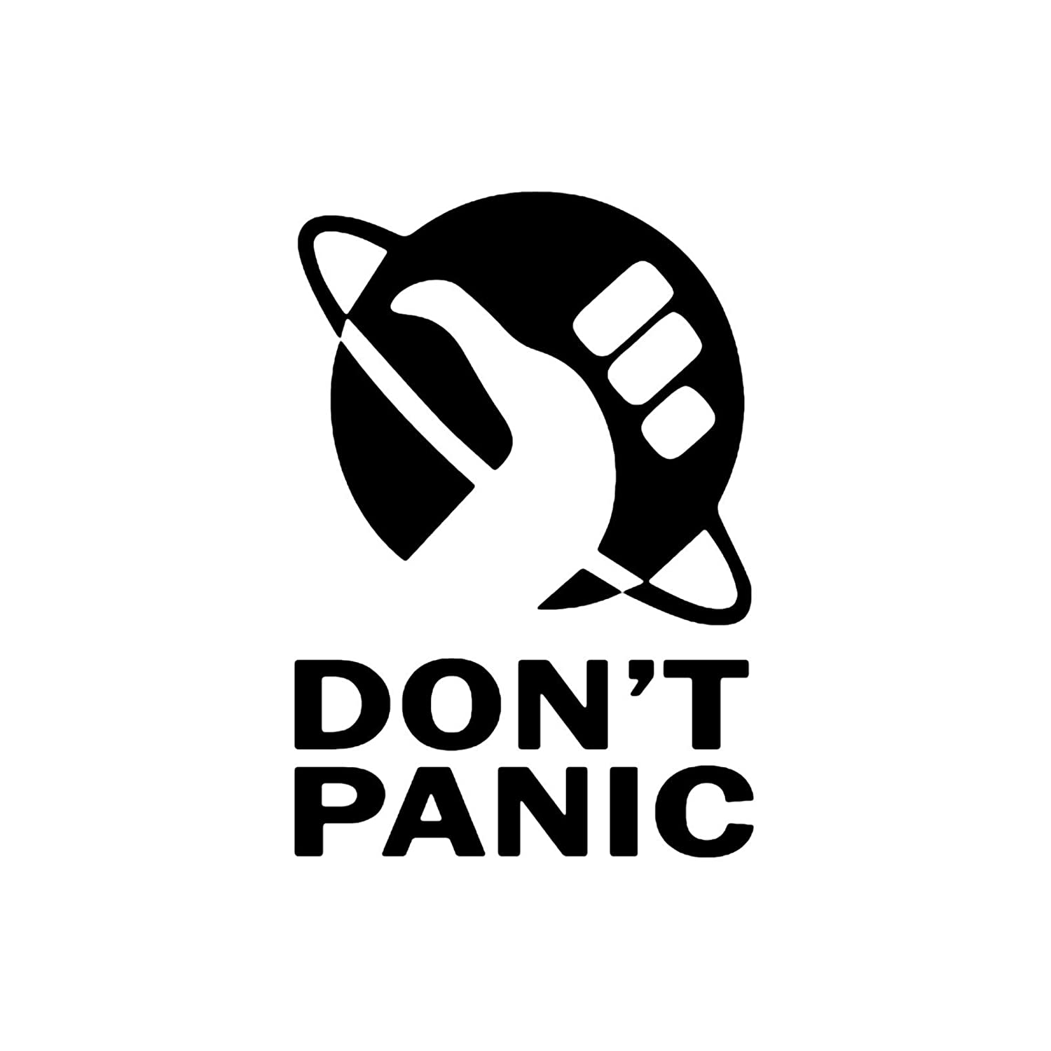 Amazoncom Dont Panic Hitchhikers Guide HGTG Die Cut Vinyl - A basic guide to vinyl graphics
