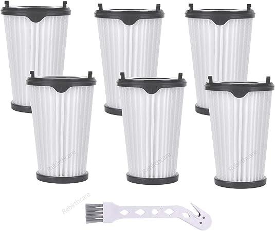 Rebirthcare - 6 filtros CX7 para aspiradora AEG Ergorapido, número de artículo AEF150, filtro Hepa, filtro de repuesto con 1 cepillo de limpieza para todos los modelos CX7-2: Amazon.es: Hogar