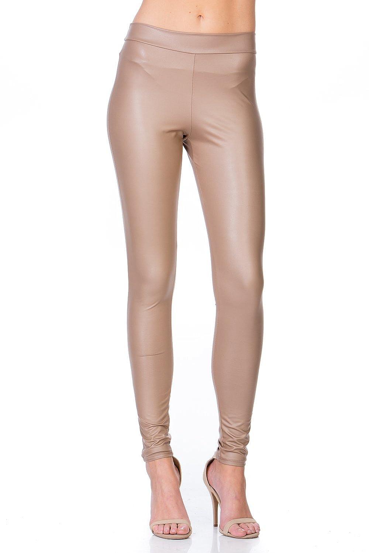 Junky Closet Women's Faux Leather Stretchy Catwoman Leggings Pants