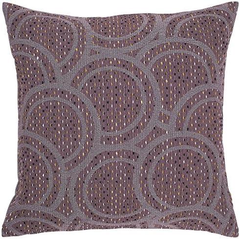 Amazon Brand Rivet Modern Abstract Decorative Throw Pillow, 20 x 20 , Purple