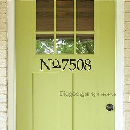 Charming House Door Numbers Decor Custom House Numbers Decal Vinyl Numbers Front  Door Porch Decals (4u0026quot