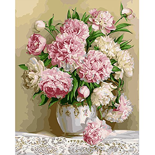 paint by number peony - 8
