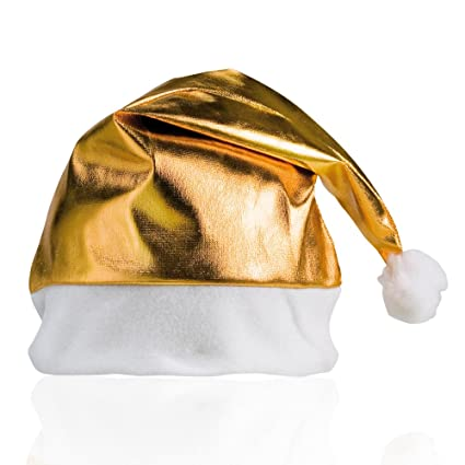 c853455793fb1 Image Unavailable. Image not available for. Color  eBuyGB Adults Unisex  Festive Christmas Santa Hat (Gold)