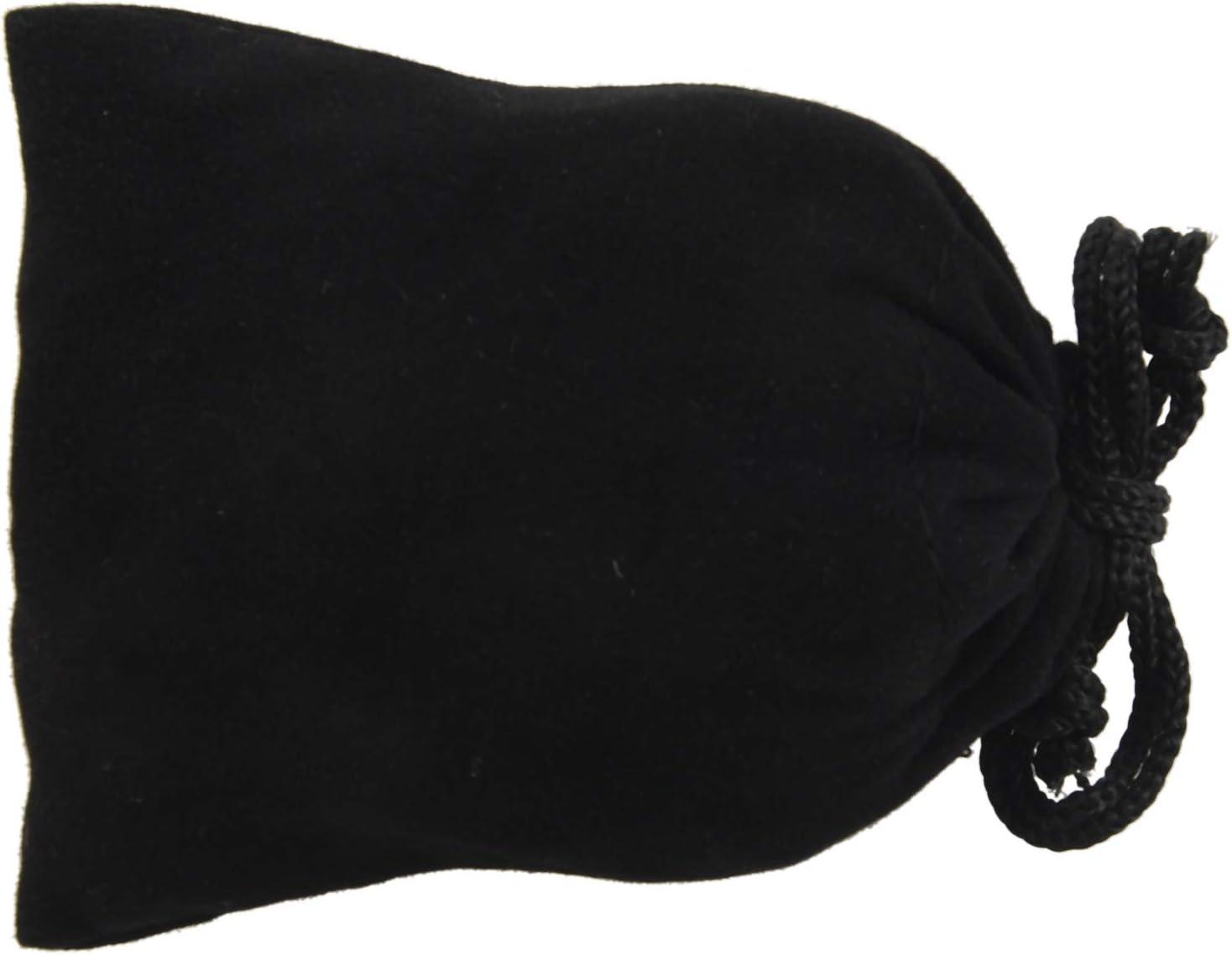 Kamenda 1 Pieces Pochettes a Cordon en Velours Elegant des Sacs-Cadeaux Pochettes a Bijoux//Sacs-Cadeaux Noir