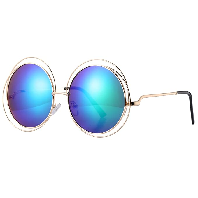 Pro Acme Women\'s Double Circle Metal Wire Frame Oversized Round ...
