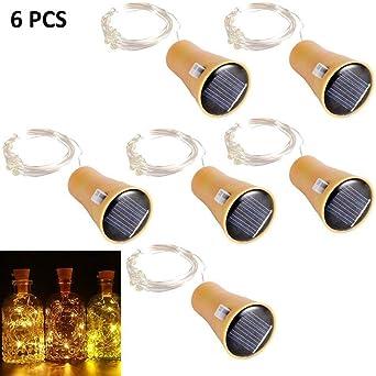 6 Pack Solar LED Luces de Botella de Vino, ALED LIGHT Solar Light ...