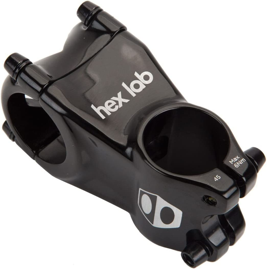Black, 28.6 x 40mm Box Hex Lab 1 Inch Stem