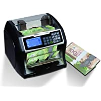 Royal Sovereign Money Counting Machine | High Speed Paper & Polymer Bill Counter | Value Counting, UV, MG, and IR Counterfeit Bill Detector (US Bills) | Front Load (RBC-4500-CA)