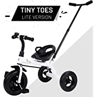 R for Rabbit Tiny Toes Lite Smart Plug and Play Baby Tricycle Trike Cycle for Kids of 1.5 to 5 Years with Parental Control(White)