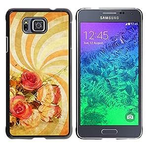 TopCaseStore / la caja del caucho duro de la cubierta de protección de la piel - Wallpaper Spiral Hypnotic Psychedelic Art Flowers - Samsung GALAXY ALPHA G850