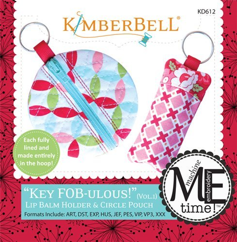 Kimberbell Key FOBulous Vol. 1 Lip Balm Holder and Circle Pouch Embroidery CD KD612