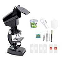 Kids Microscope, EgoEra® 300X, 600X, 1200X Magnification Children Science Microscope Kit with Projector And LED Lights Includes Accessory Toy Set for Students Science and Education