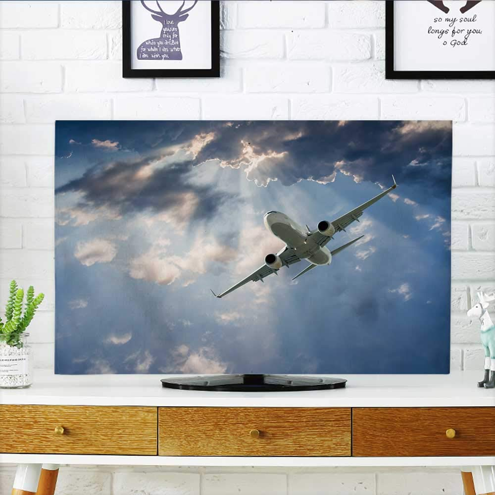 Analisahome Front Flip Top Passenger Airplane in The Clouds Travel by air Transport Front Flip Top W19 x H30 INCH/TV 32''