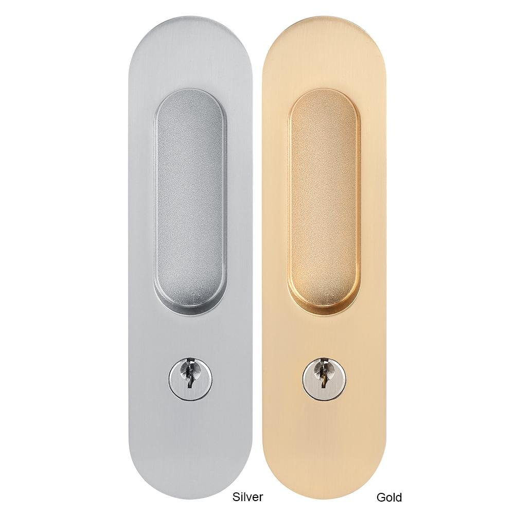 Amazon.com: Zinc Alloy Sliding Door Locks Wooden Invisible Door Lock With 3 Keys Furniture Hardware Latch Indoor for Bathroom Closet Kitchen Balcony(Gold): ...