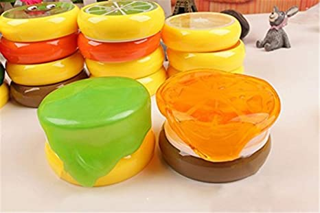 Creative Fruit Crystal Clay Putty Jelly Slime Rubber Mud Play-Doh Kids Toy Gift