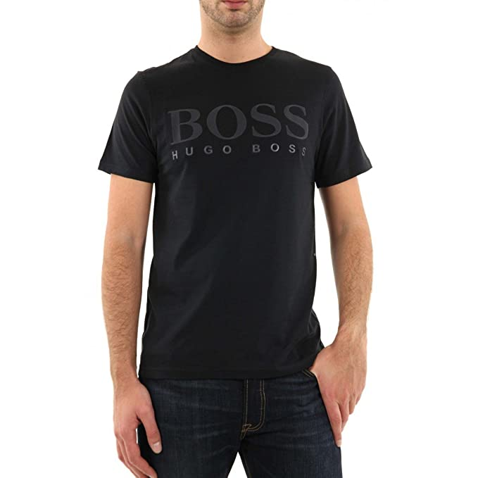 Hugo Boss: Camiseta, color negro. negro L