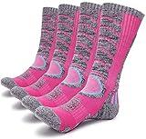 Gosuban 2 Pairs Women's Hiking socks,Antiskid Wicking Outdoor Multi Performance Camping Cushion Sock