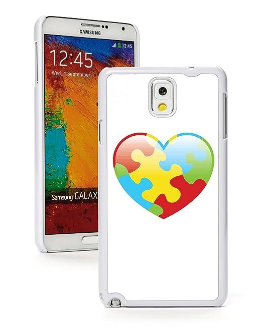 Samsung Galaxy Note 4 carcasa corazón (blanco) autismo ...
