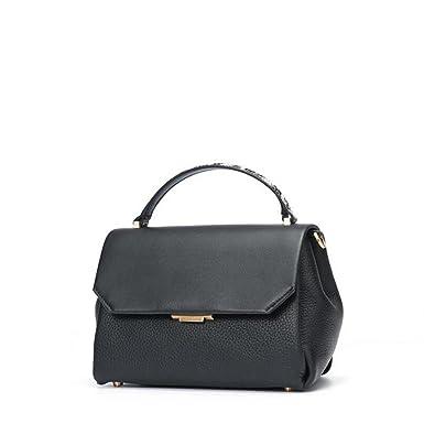 Damen Mode Wilde Handtasche Schultertasche Messenger Tasche Einfache Shell Tasche Handtaschen,Black-OneSize GKKXUE