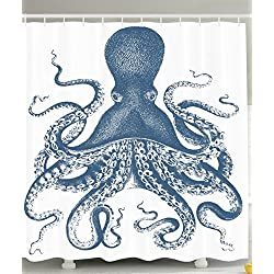 Ambesonne Kraken Shower Curtain Octopus