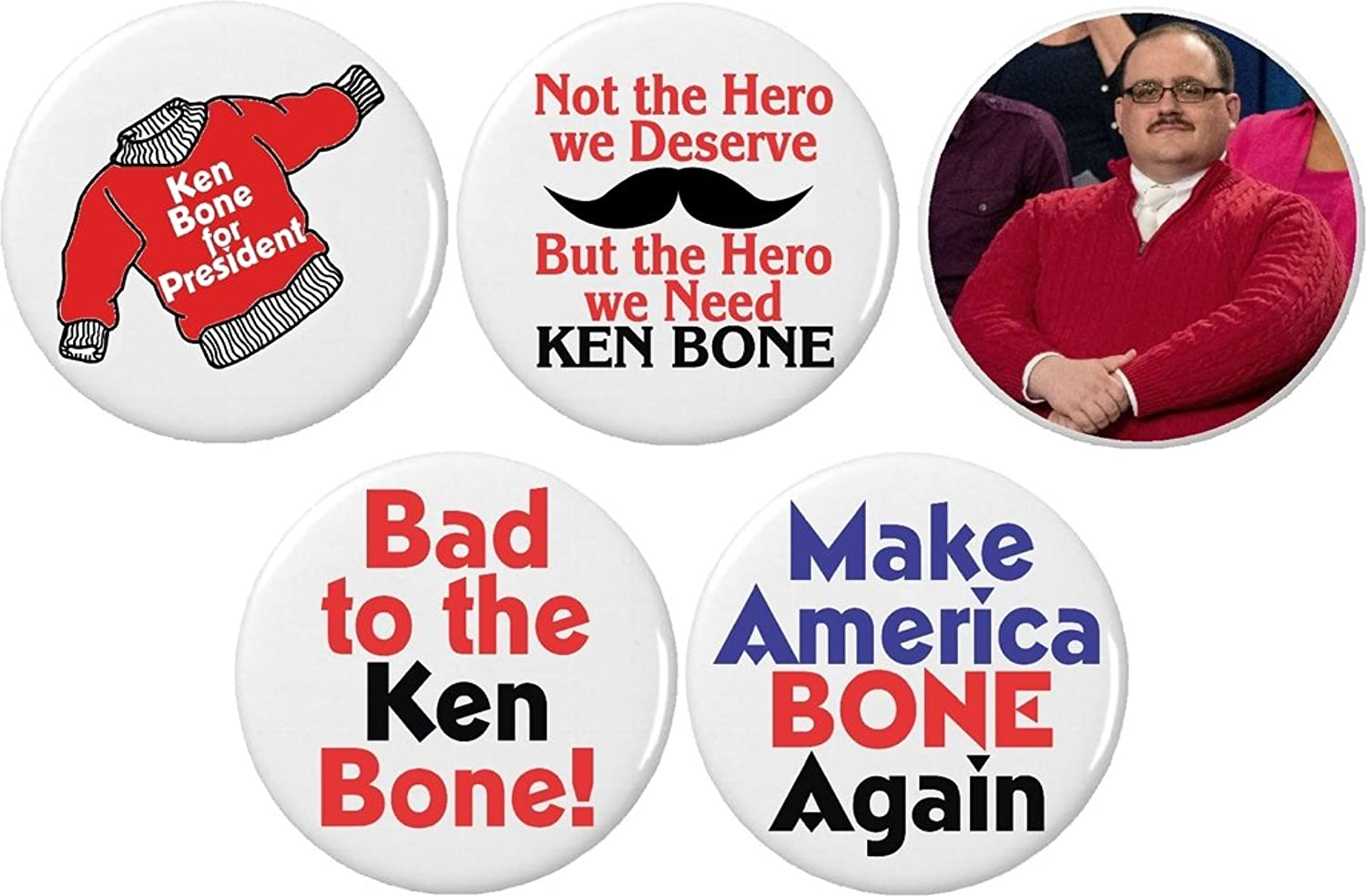 Amazon.com: Set 5 Ken Bone Red Sweater Hero President Debate Funny ...