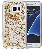 S6 Case, Galaxy S6 Case, Hankuke Soft Luxury Bling Glitter Sparkle Transparent Rubber Case Cover Fashion Creative Design for Grils Children fits for Samsung Galaxy S6- gold