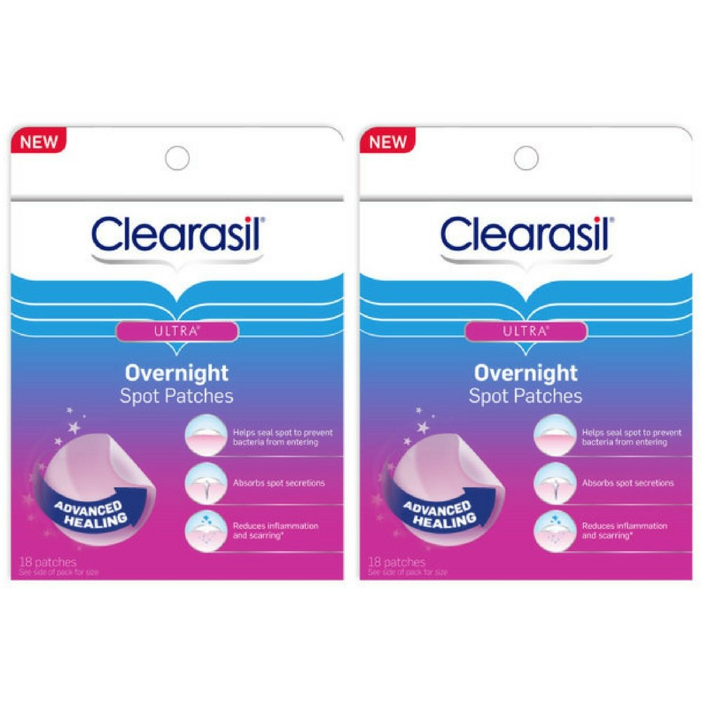 Clearasil Ultra Overnight Spot Patches - 18 ct, Pack of 2 RECKITT BENCKISER