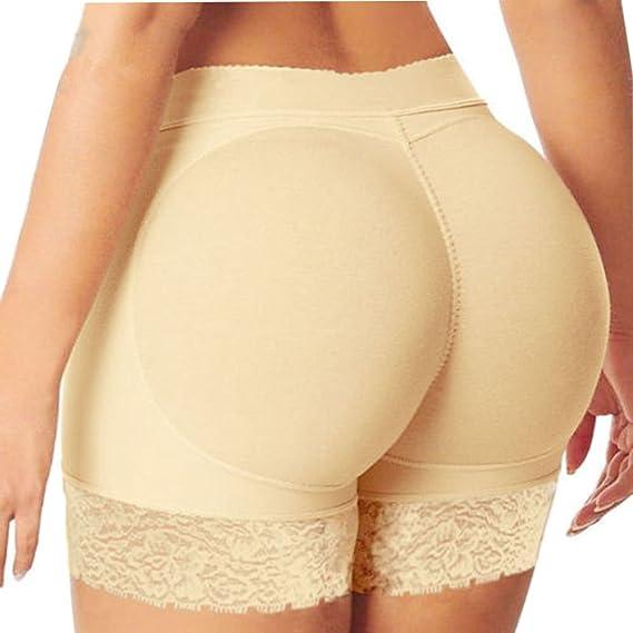 4c2cd7bb54 Women Padded Bum Pants Hip Enhancer Shaper Butt Lifter Booty Boyshorts  Underpants  Amazon.ca  Clothing   Accessories