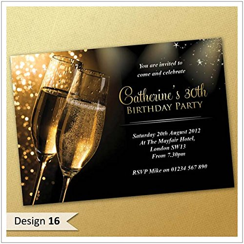 30th 21st 18th 40th 50th 60th Birthday Invitations Personalised