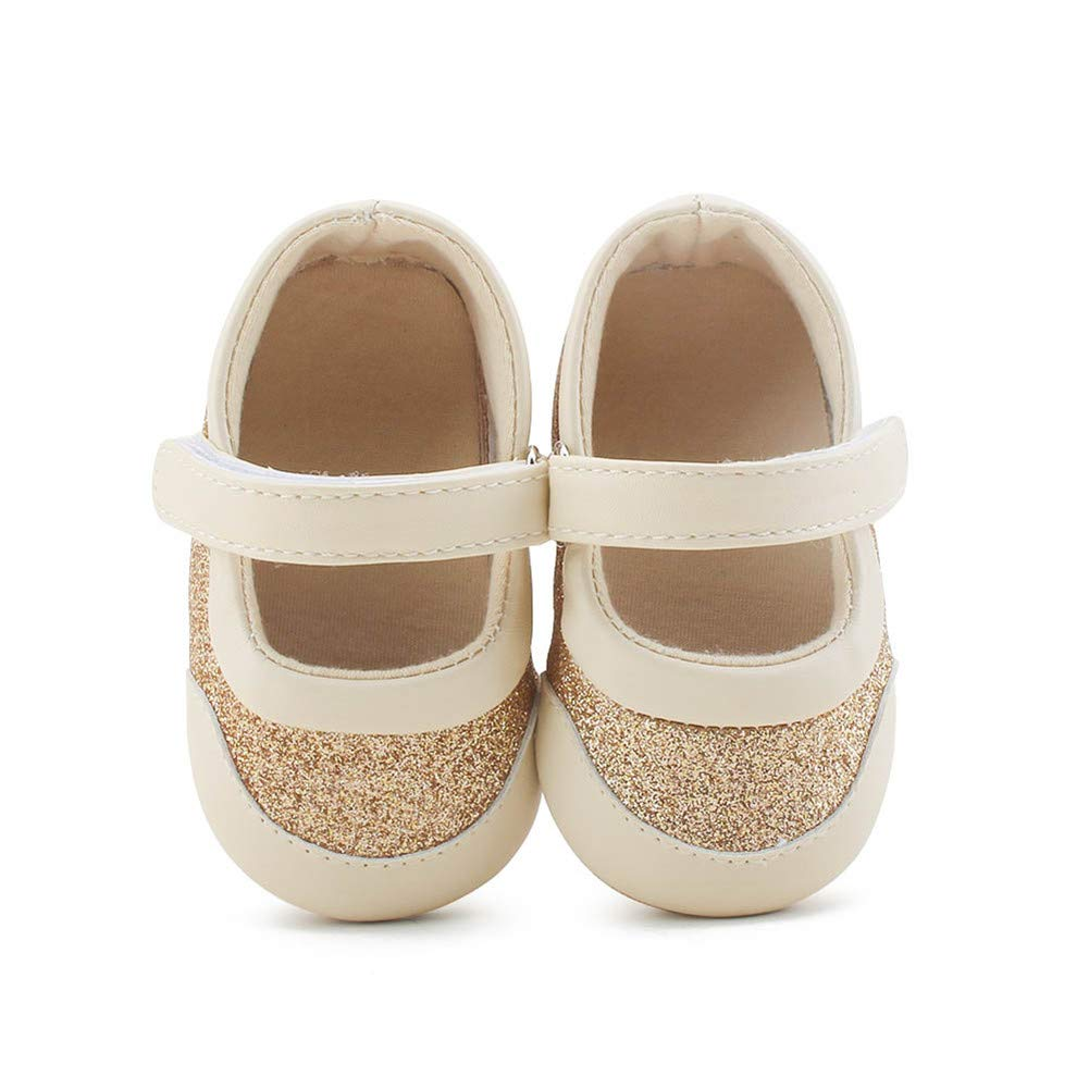 Newborn Baby Boys Premium Leather Soft Sole Infant Prewalker Toddler Sneaker Shoes