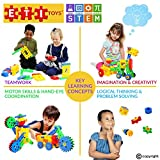 ETI Toys Educational Engineering Building Children's Set – 109-Piece Construction Blocks & Gears Kit, Colourful Oversized Plastic Bricks, Promote Fun Learning & STEM Skills - Ages 4-8