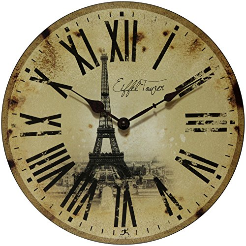 (Infinity Instruments Eiffel Tower Clock,)
