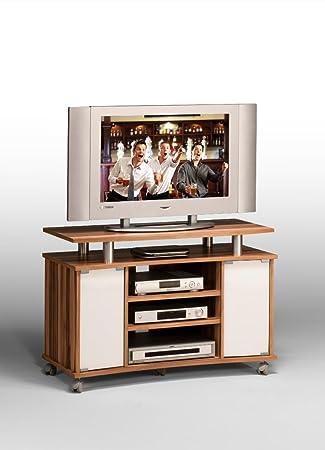 Fernsehschrank Tv Wagen Baltimore Nussbaum Alu Optik 100 Cm Achaz 1