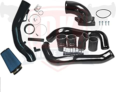 Turbo Intercooler Pipe /& Intake Elbow Kit Replacement for 2003-2007 Ford 6.0L V8 Powerstroke Silver